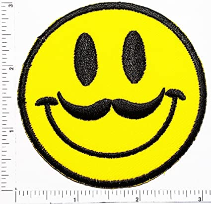 Amazon com: Hipster Emoji Patch Hot Face Smile Face Logo Kid