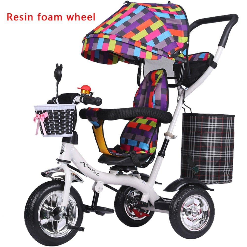 バブルホイールベビーガール乳母車、子供用自転車、自転車、子供三輪車、ライトトロリー (色 : # 3) B07CZ9XGR9 # 3 # 3