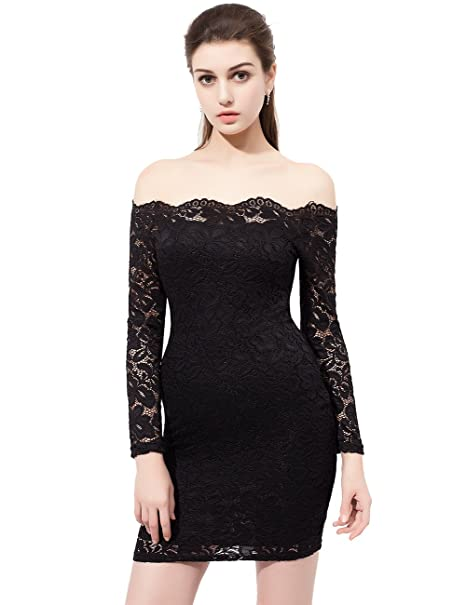 Lace Dress Off The Shoulder Bodcon Dress Short Cocktail Dresses Party Gown