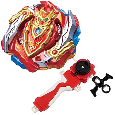 Bey Burst Evolution Turbo Battling Tops Blade God Bey with Lr Launcher Grip Starter Set B-129 Booster Cho-Z Achilles.00.Dm Attack Gyro Bay Battle Gaming Tops Novelty Spinning Toy Gift for Boys: Toys & Games