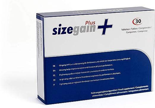 SizeGain Plus, Pastillas para alargar el pene, 30 comprimidos ...
