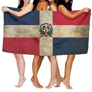 República Dominicana bandera hoja de toallas de ducha de baño, playa mano turco toalla,