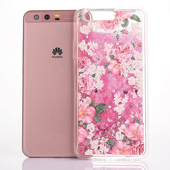 3 opinioni per Cover Huawei P10, CaseLover 3D Bling Sabbie Mobili Flessibile TPU Silicone