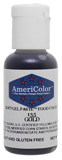 Amazon.com: Americolor Soft Gel Paste .75 oz Gold Color: Kitchen ...