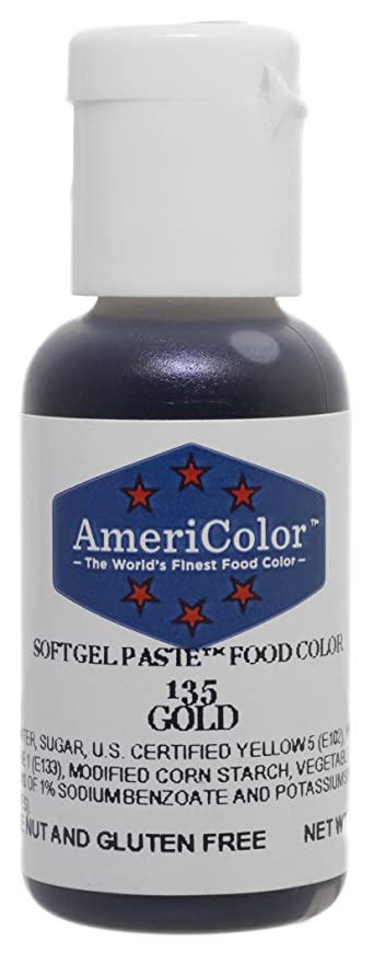 Amazon.com: AmeriColor Soft Gel Paste - Gold Food Coloring.75 Ounce ...