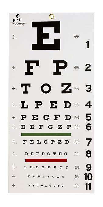 Amazon com: Pivit Snellen Hanging Nearsightedness Vision