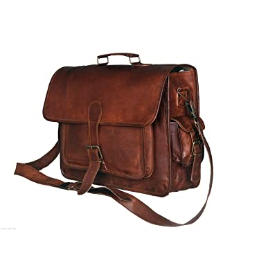 26a1942b93 50%OFF Leather Messenger Handmade Bag Laptop Bag Satchel Bag Padded  Messenger Bag School Bag