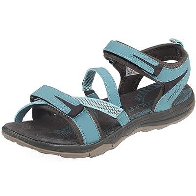GRITION Womens Walking Sandals Lightweight Waterproof Athletic Trekking Shoes Open Toe Adjustable Strap Elastic Webbing Hiking   Sport Sandals & Slides