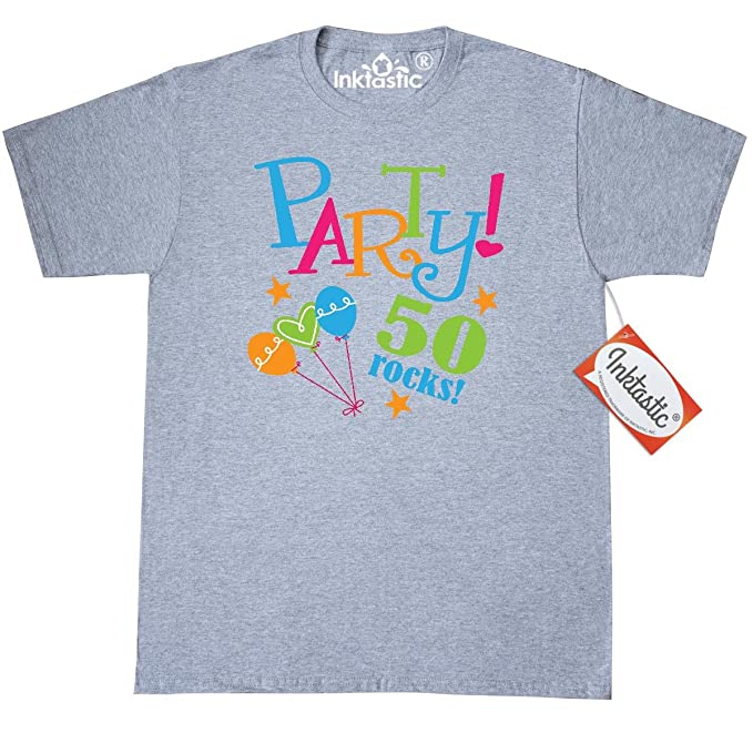 Inktastic 50th Birthday Party Gift T Shirt Small Athletic Heather