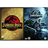 Jurassic Park 1, 2, 3 and 4 Complete DVD Collection : Jurassic Park / The Lost World - Jurassic Park / Jurassic Park III / Jurassic World + Extras + Bonus features : Deleted Scenes