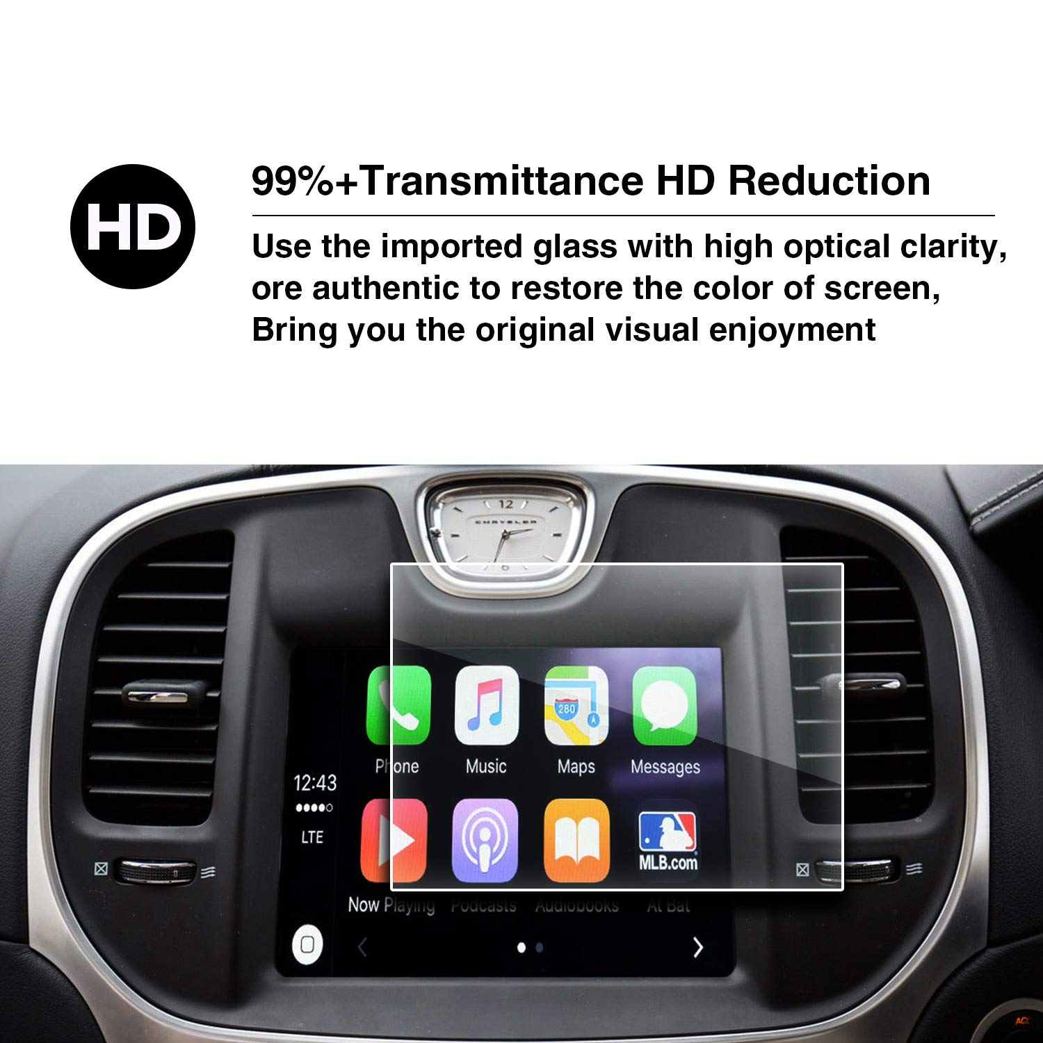 YEE PIN High Definition car Display Protection Film 300S 200C 200S Uconnect 8.4 Inch HXY