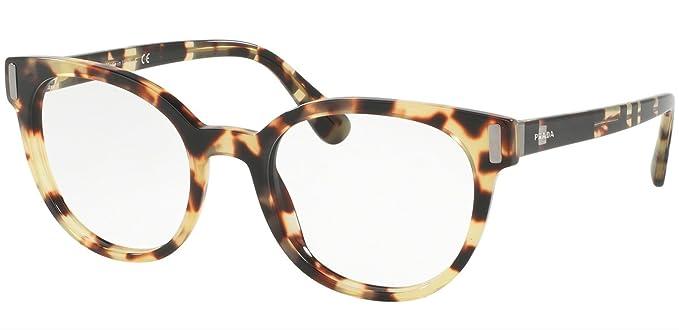 c8c081ced3a Prada PR06TVF Eyeglass Frames 7S01O1-52 - Medium Havana PR06TVF-7S01O1-52 at  Amazon Men s Clothing store