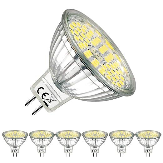Eacll Gu5 3 Led Cool White 6000k Mr16 Led 12v 5w Led Light Bulb Can Be