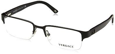 7f641c1517db Amazon.com  Versace VE1184 Eyeglasses-1261 Matte Black-53mm  VERSACE ...