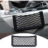 Zyurong Black Universal Car Seat Side Back Pocket Storage Organizer Nylon Net Bag Phone Holder L