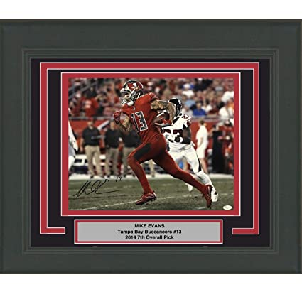 4140018c7 Image Unavailable. Image not available for. Color  Framed Autographed Signed  Mike Evans Tampa Bay Buccaneers 16x20 Football Photo JSA ...