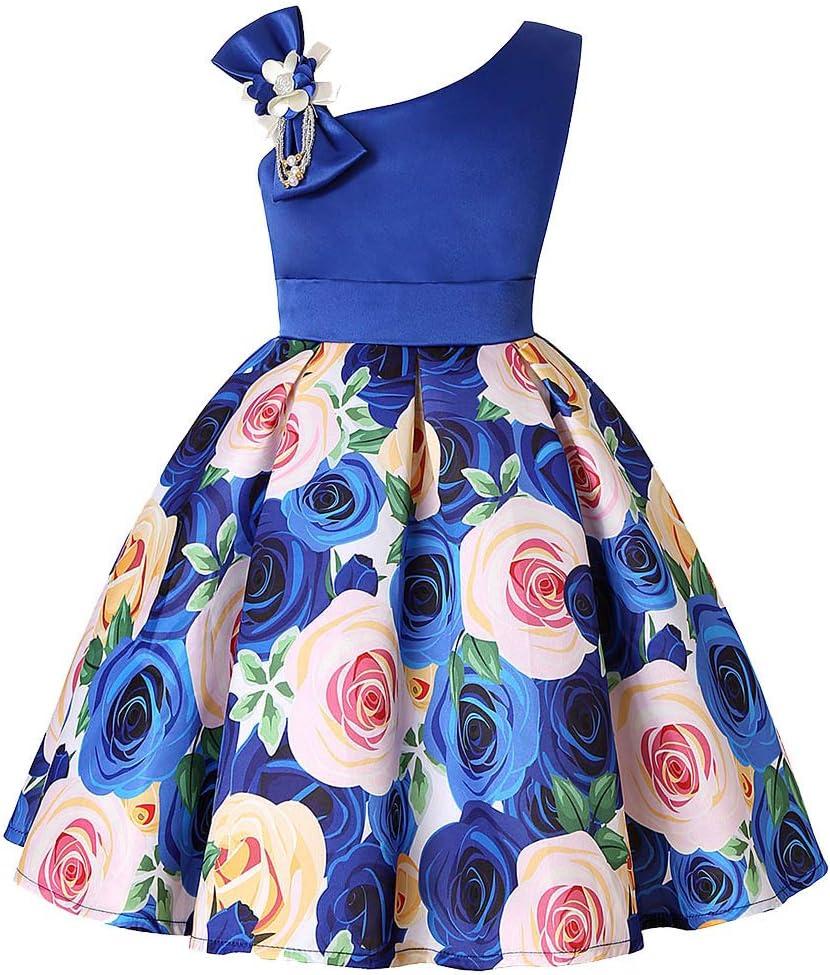 SamMoSon_Fille Robe Vestido de Princesa para Fiesta de Boda, Vestido de Dama de Honor, Vestido de Fiesta, Vestido de cóctel, Vestido de Playa para niños