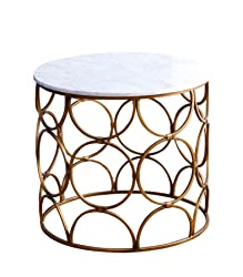 Abbyson Allison MD-P155626 Round Faux Marble Coffee Table