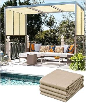 Sun Shade Sail Shade Netting Canopy Sail Parasol UV Bloque UV Luz amarilla para exterior Invernadero Patio Patio Jardín Jardín Césped Flor Planta Patio Patio Patio Cubierta para autos Toldos, varios t: