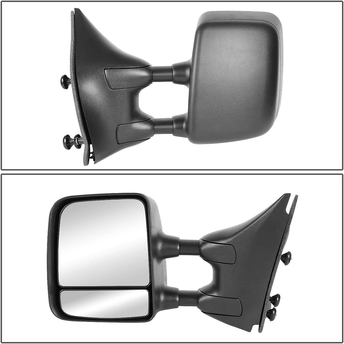 DNA Motoring MR-OEM-031-L Factory Style Driver Left Side Manual Mirror For 05-14 Titan//Armada
