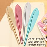 Unique Rollerball Pen, VESNIBA 4PCS New Cute Wing Feather Ballpoint Ink Pens Gel Pens Creative Stationery Student Gift (A-4PCS Wing Feather)