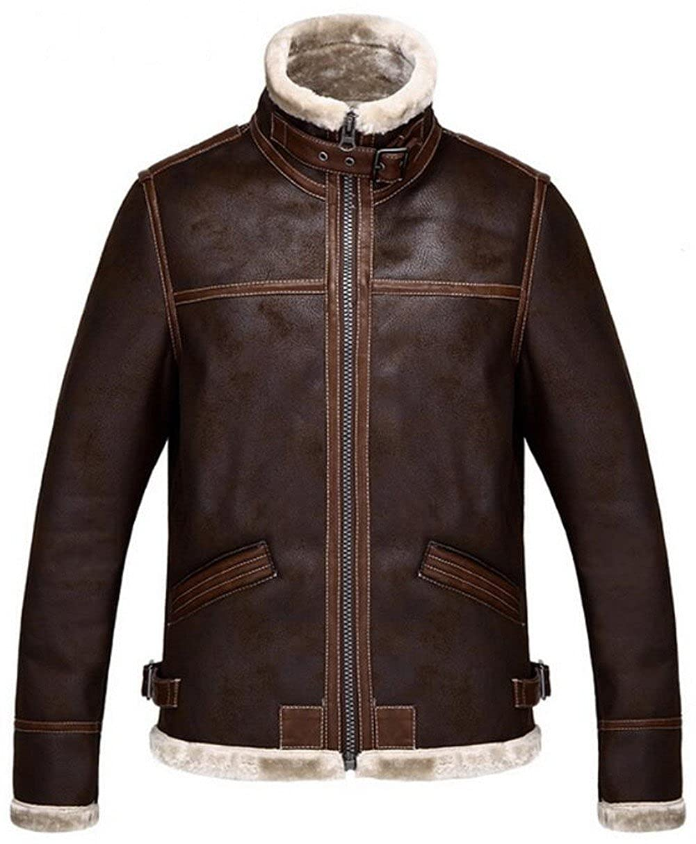 4262de3f5bfe Resident Evil 4 JIAX Men s Winter Thicken Faux Leather Jacket Warmer Coat