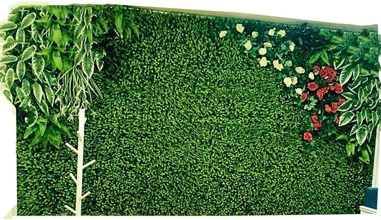 LVZAIXI Balcón Patio Blindaje Seto Césped Jardín Plástico Simulación Plantas Alfombra Colchoneta De Cercado Falso Verde Decoración De Telón De Fondo De La Boda (Color : A, Size : 100x100cm): Amazon.es: Hogar