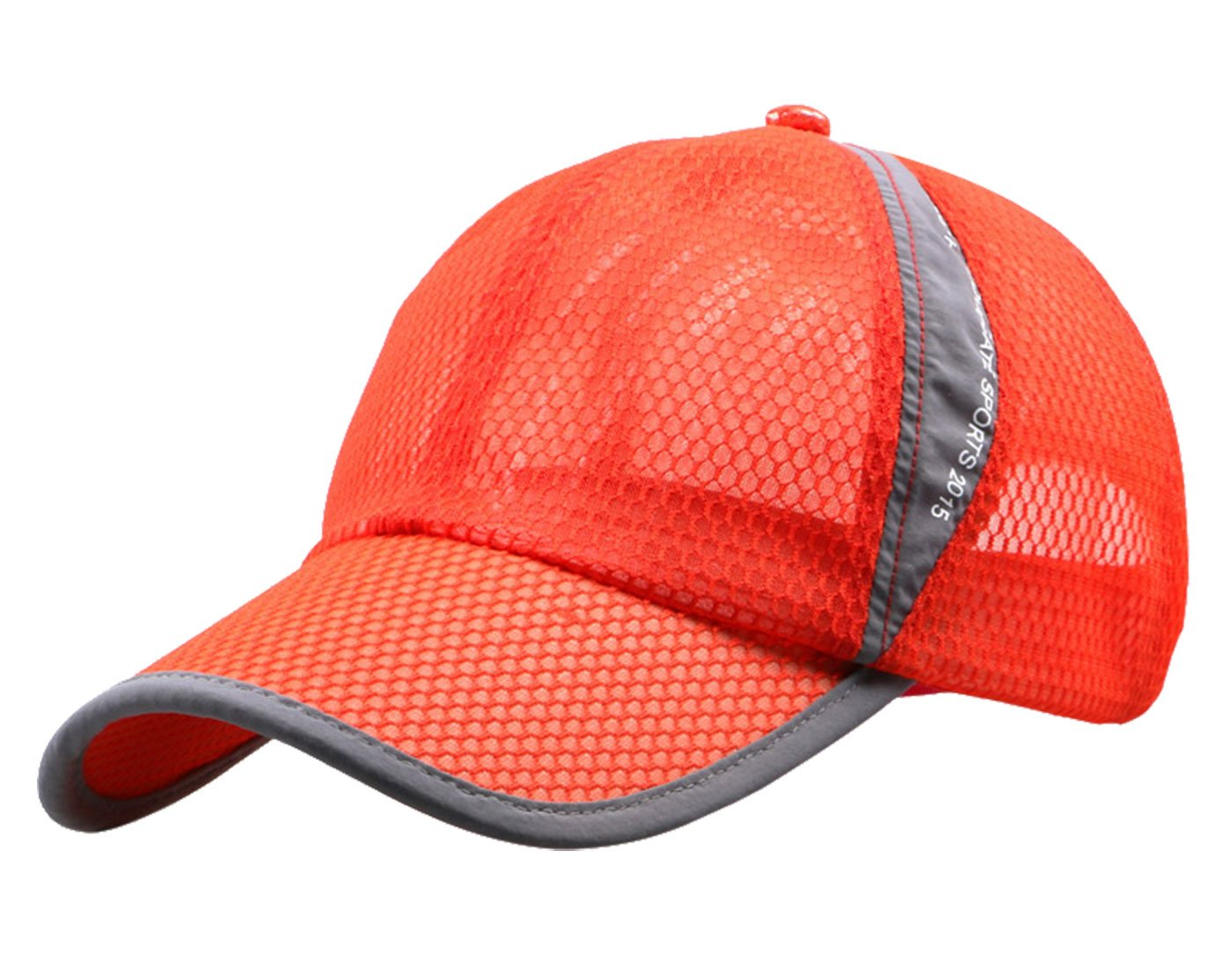 Mens' Womens Summer Outdoor Sport Hat Lightweight Running Hiking Climbing Fishing Sun UPF 50+ Mesh Cap Orange
