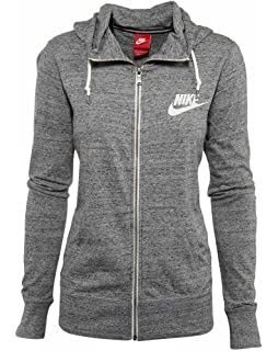 Amazon.com: Nike Women's Gym Vintage Full-Zip Hoodie Jacket ...