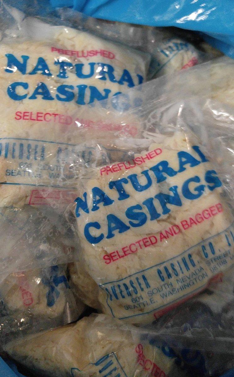 Natural Hog Casings for Sausage - Full Hank