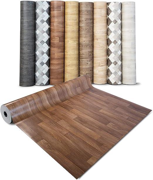 gesch/äumt extra abriebfester PVC Bodenbelag - Eiche Antik Meterware casa pura/® CV Bodenbelag Antique Oak 200x200 cm Oberfl/äche strukturiert edle Holzoptik