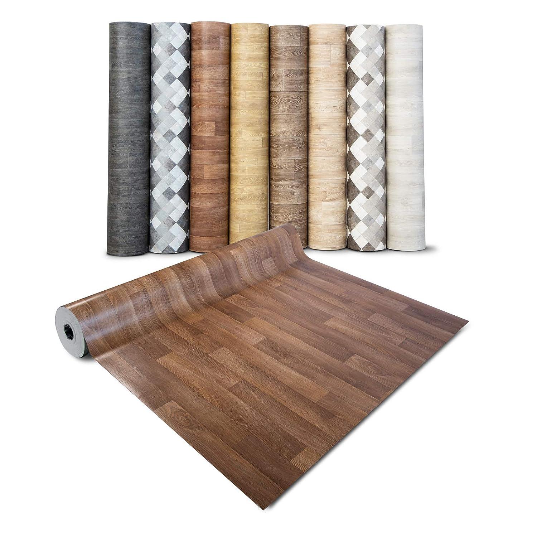 Einfarbig Schwer Entflammbar 2,00m x 4,50m PVC Bodenbelag EXPOTOP Profi Vinylboden Uni Grau PVC Boden Meterware Vinyl