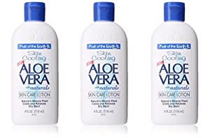 Fruit of the Earth Aloe Vera With naturals Skin Care Lotion 4 Oz Travel Size (Pack of 3)