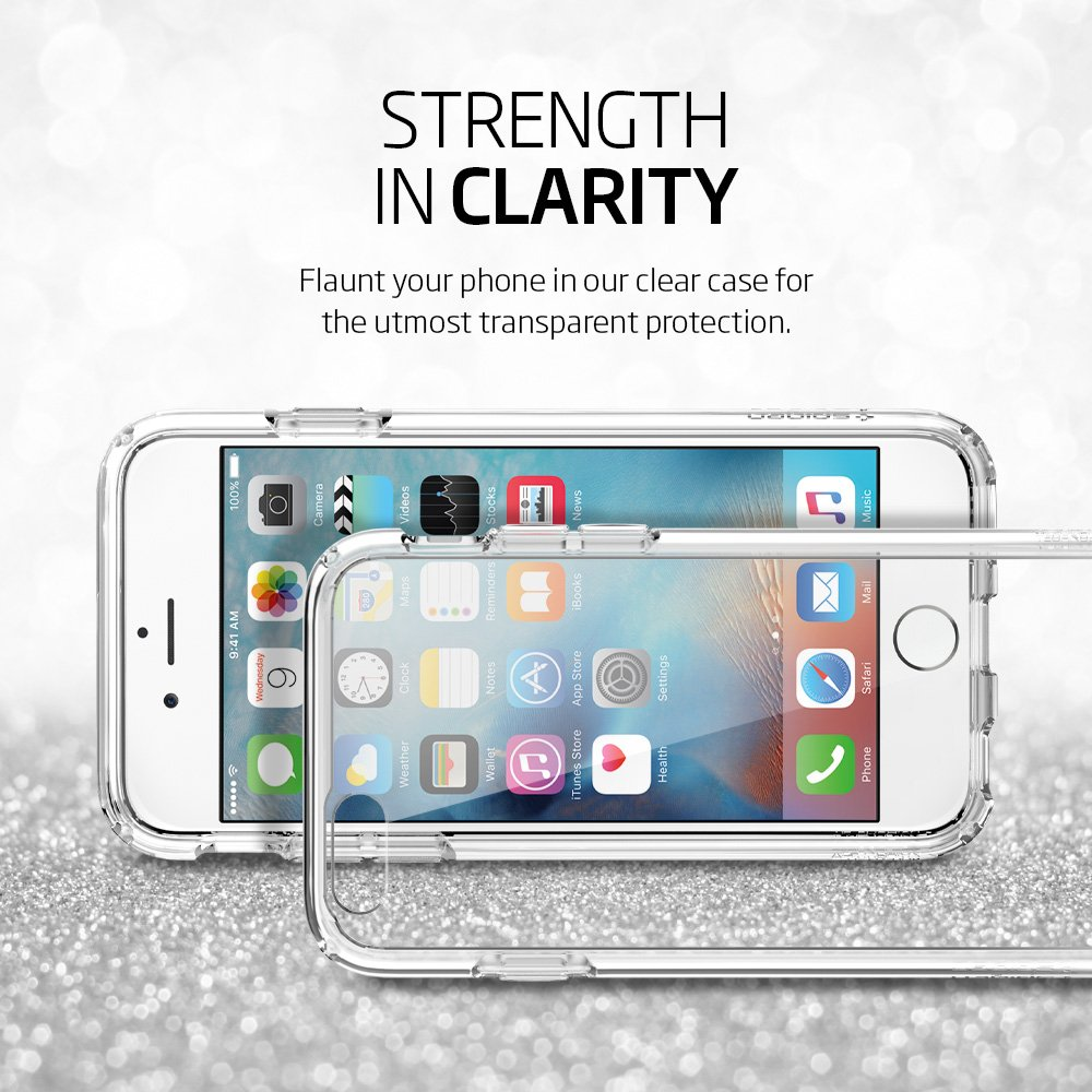 Spigen Ultra Hybrid iPhone 6S Case with Air Cushion Technology and Hybrid Drop Protection for iPhone 6S / iPhone 6 - Crystal Clear by Spigen (Image #3)