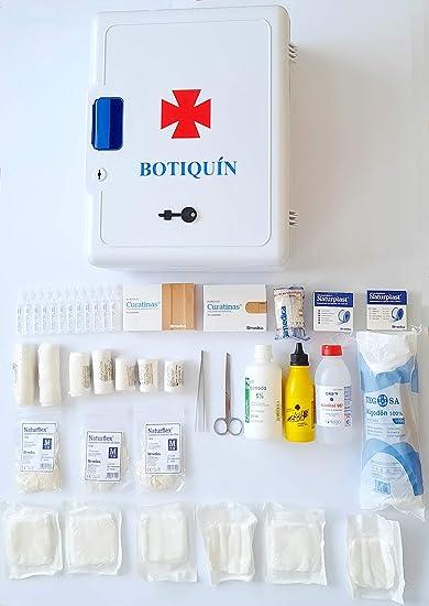 Armario botiquin primeros auxilios con dotación (395x307x163): Amazon.es: Salud y cuidado personal