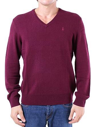 Jersey Ralph Lauren Merino Cuello Pico Granate Hombre Medium Rojo ...