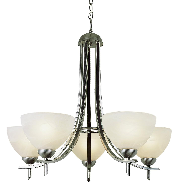 Brushed Nickel 27 x 24 x 24 Bel Air Lighting Trans Glob Lighting 8175 BN Indoor Vitalian 24 Chandelier DROPSHIP 27 x 24 x 24