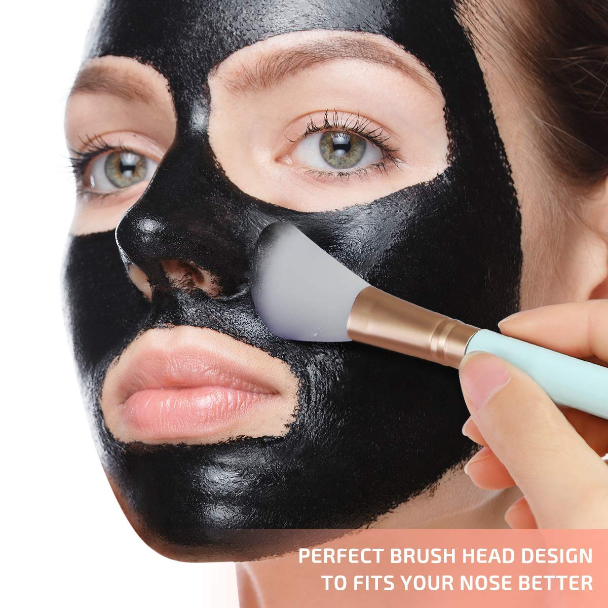 Silicone Face Mask Brush[Newest 2019], 4PCS Mask Beauty Tool Flexible Silicone Facial Mud Mask Brush