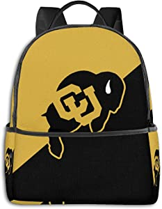 Colorado Buffaloes Backpack Durable Waterproof Anti-Theft Laptop Backpack Travel Backpack School Bag, Suitable for Boys and Girls School Backpacks