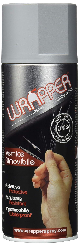 WRAPPER 400 wrapper7001 Pittura Aerosol Pelable, Grigio Argento RAL 7001, 400 ml 400ml Colorpack SRL 400WRAPPER7001