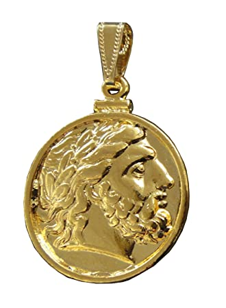 Coin pendant zeus king of gods 24 k gold plated amazon coin pendant zeus king of gods 24 k gold plated amazon kitchen home mozeypictures Gallery