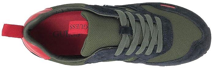 Guess Sneaker Uomo Charlie Runner Suede Green 43, Green