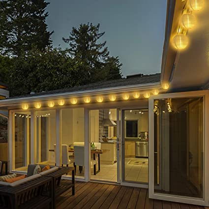 Qomolo Guirnaldas de Luces,50 LED 8 Modos Farolillos Exterior Iluminación Navidad Interior y Exterior Impermeable Decoración Farolillos Para Bodas,Jardín,Fiesta (Alimentado por Batería): Amazon.es: Iluminación