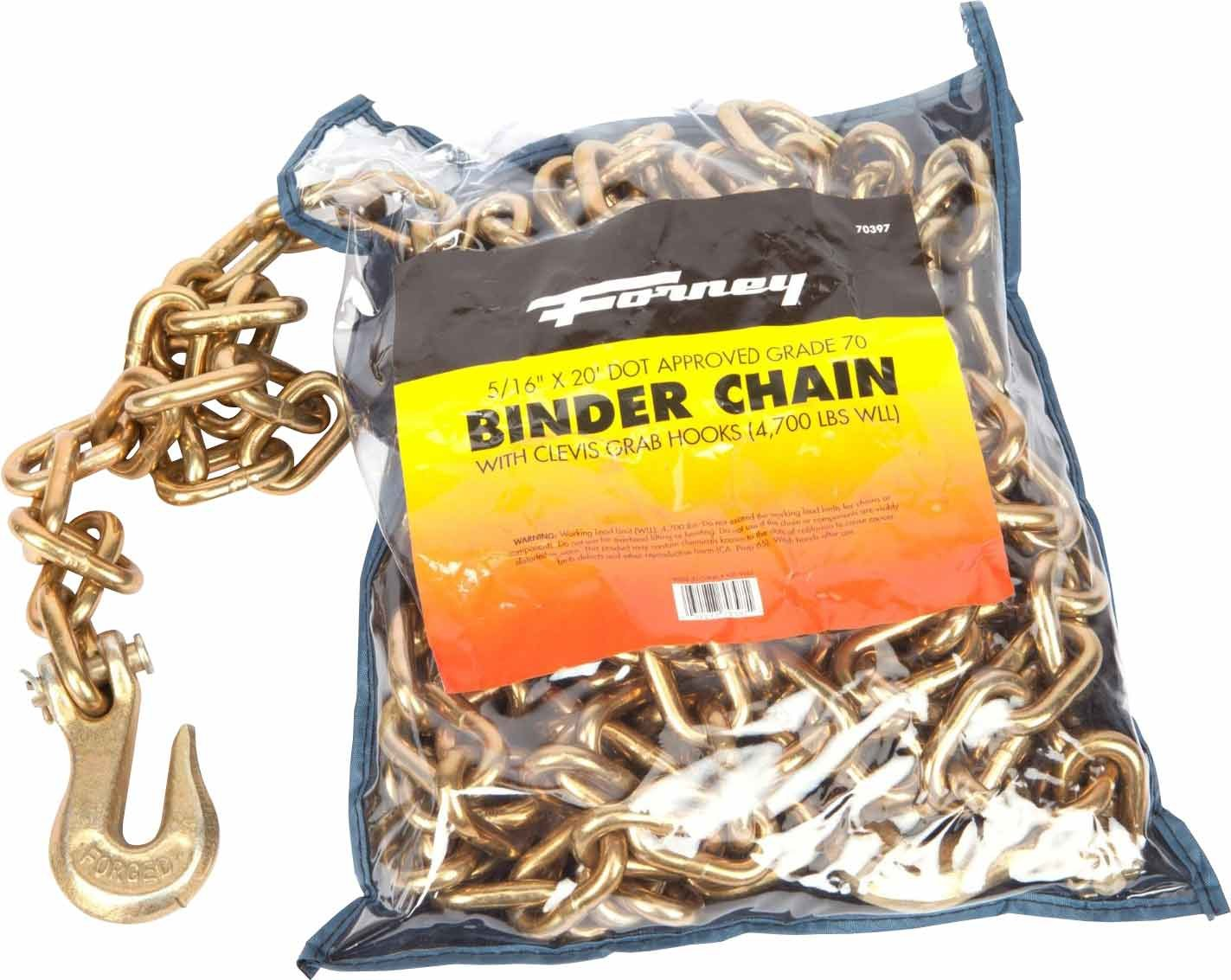 Forney 70397 Binder Chain, 5/16-Inch by 20-Feet