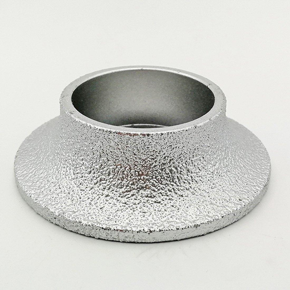 no!no! DIATOOL 3 Inch/75MM Vacuum Brazed Diamond Grinding Wheel Demi-bullnose Edge Profile for Stone Abrasive grinding disc Vacuum brazed Profile Hand diamond Wheel Grit 60 (Diamond Height 20mm)