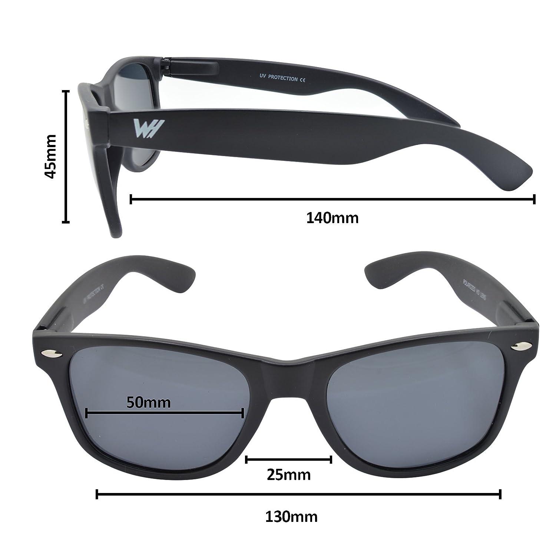 WHCREAT Unisex Polarisierte Sonnenbrille Federscharnier Matt Rahmen UV 400 Schutz Linse für Männer Frauen - Matt Schwarz Rahmen Gold Linse frGUUP4
