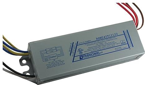 ROBERTSON 2P20132 Quik-Pak of 10 Fluorescent eBallasts for 2 F40T12 Linear Rapid