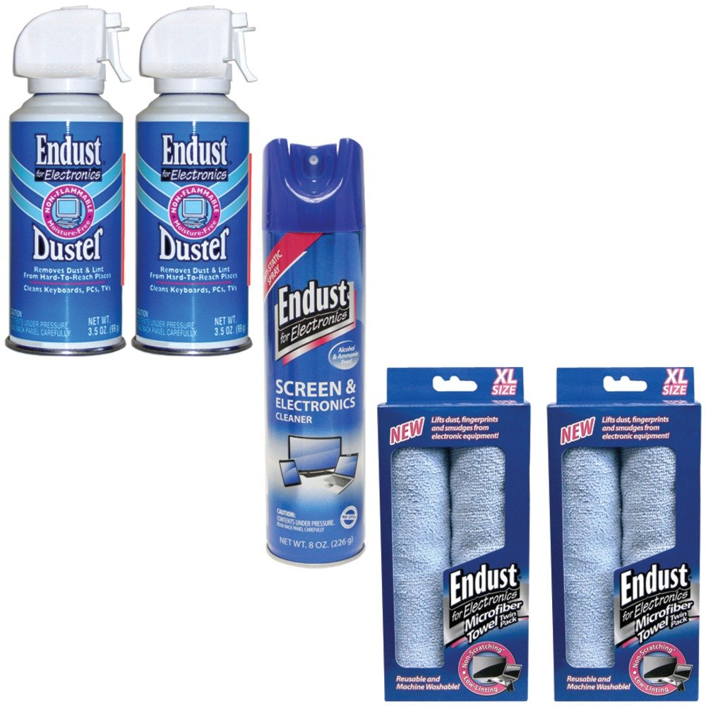 Endust 096000 Anti-static Multi Surface Cleaner, 246050 Electronics Duster & 114 electronic consumer