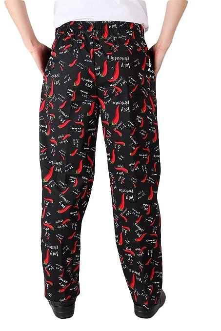 Insun Homme Pantalon de Chef Boulanger Pantalons de Travail Pantalons de Boucher: Amazon.fr: Vêtements et accessoires