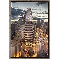 Cuadro enmarcado - Cuadro del Edificio Carrión (Schwepps) de la Gran Vía de Madrid - Fotografía artística y moderna de…